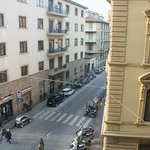 View of the street from our room