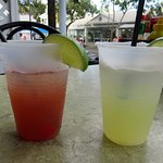 a rum runner to the left and a Key West Margarita on the right