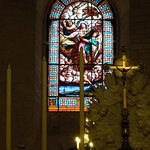 beautiful stained-glass window