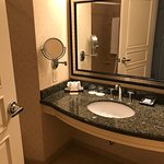 Spacious bathroom with vanity