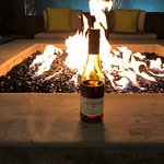 Wine by the fire pit