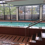 The pool area looked inviting.