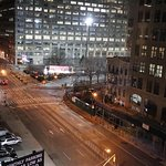 The view to Varick St and Holland Tunnel from the fitness center
