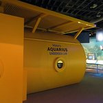 an exhibit about the Aquarius - an underwater laboratory