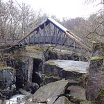 Photo of Bracklinn Falls Bridge and Callander Crags