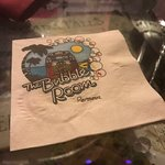 napkin at bubble room