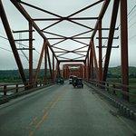 while crossing the bridge