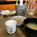 sake and miso soup