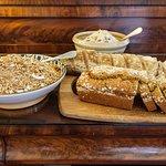 Granola, muesli, sourdough bread and wheaten bread, all home made.
