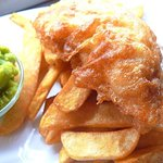 OUR SPECIALITY: FRESHLY BATTERED COD & CHIPS - YUMMY!