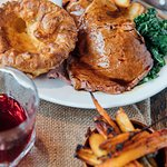 Sunday roast at The Cherry Tree pub and restaurant in Olney Buckinghamshire