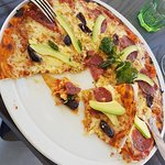 Excellent pizza on the terrace