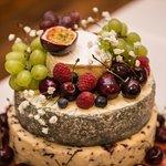 Dewlay Wedding 4 tier Wedding cheese cake