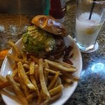 Turkey Burger & White Peach Margarita