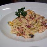 Spaghetti Seafood Carbonara - Disappointing