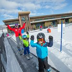 The Hideout area - little kids ski and are very close to bathrooms and hot cocoa the entire day.