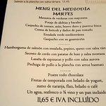 menu del mediodia