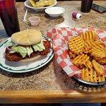 Swayzee Tenderloin and waffle fries.  Yumm!