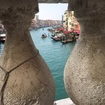 A view from the bridge at Ponte di Rialto, over looking the Grand Canal.
