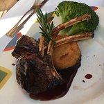 Black cod and rack of lamb