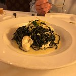 Fresh Crab in Ink Pasta Creme Sauce