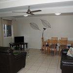 Poolside Apt - lounge room - Airlie Apts