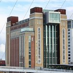 The old Baltic Flour Mill is now the home for the Baltic Centre for Contemporary Art...