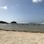 Mangel Halto beach is hidden from the street with a lot of natural beauty. Also a beautiful swim
