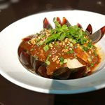 chicken with chili sauce and preserved egg
