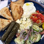 Ample sample of Greek dishes