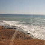California coastline from the Amtrak Coast Starlight