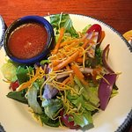 Tossed salad, no croutons, and French dressing on the side. Wonderful!