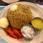 """The Lamb Briyani is a delicious and sizeable dish. Every first time goer must try the """"Chicken 6"""