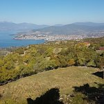 Lake ohrid from mountain