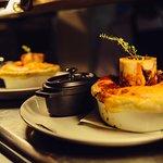 Steak pie with bone marrow
