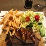 Filet mignon with foie gras.