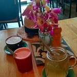 Delicious coffee, tea and juices