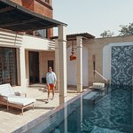 Some suites offering a private pool