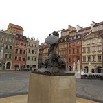 Famous statue- symbol of Warsaw