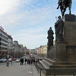 Southward view of Wenceslas Square - from Wenceslas Monument.