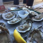 Oysters were large and succulent