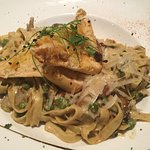 Mushroom Pasta was as cose to vegan as I could get...very delcious.