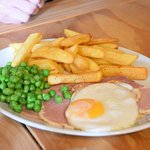 the ham egg and chips went down very well