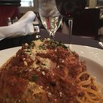 Huge bowl of Spaghetti and Meatballs