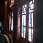 Gorgeous doors upstairs leading to balcony