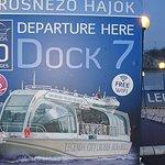 A River Danube Cruise departure Dock, Budapest.