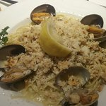 Pasta with clams...mmm