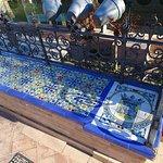 Quelques azulejos présents sur la place