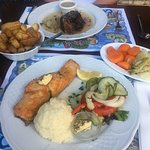 Salmon, Mash, Steak & Potato's
