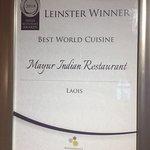 Best World Cuisine Award from Restaurant Association Ireland.
